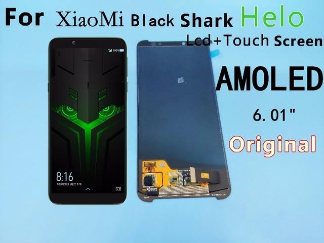 "6,01 ""Für Xiaomi BlackShark Helo LCD display + touch screen digitizer montage BlackShark Helo display Schwarz shark helo display"