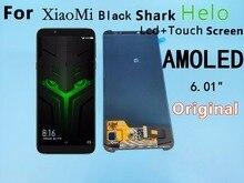 """6.01 """"Xiaomi BlackShark Hello lcd ekran + dokunmatik ekranlı sayısallaştırıcı grup BlackShark Hello ekran Siyah köpekbalığı hello ekran"""