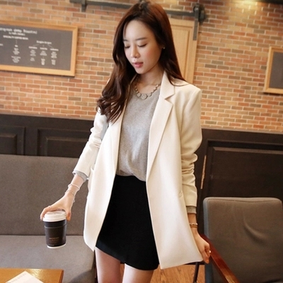 women Long section Casual grid suits blazer Lady office suits blazer female autumn gray formal jackets pocket button suits Lahore