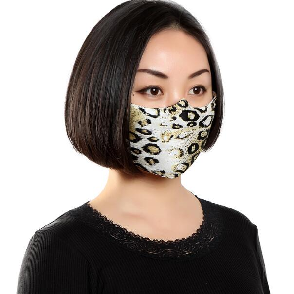 Men Women's Spring Summer 100% Silk Sunscreen Mask Lady's PM 2.5 Breathable Silk Mouth-muffle R781