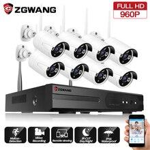 ZGWANG 960P 8CH Security Wireless Camera Kits Waterproof Outdoor NVR IP WIFI Camera Kit CCTV Home Security Surveillance System стоимость