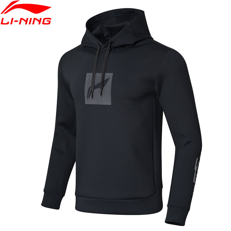 Li Ning Men Training Series Hoodie Regular Fit 92 Polyester 8 Spandex Comfort Interlock LiNing Sports