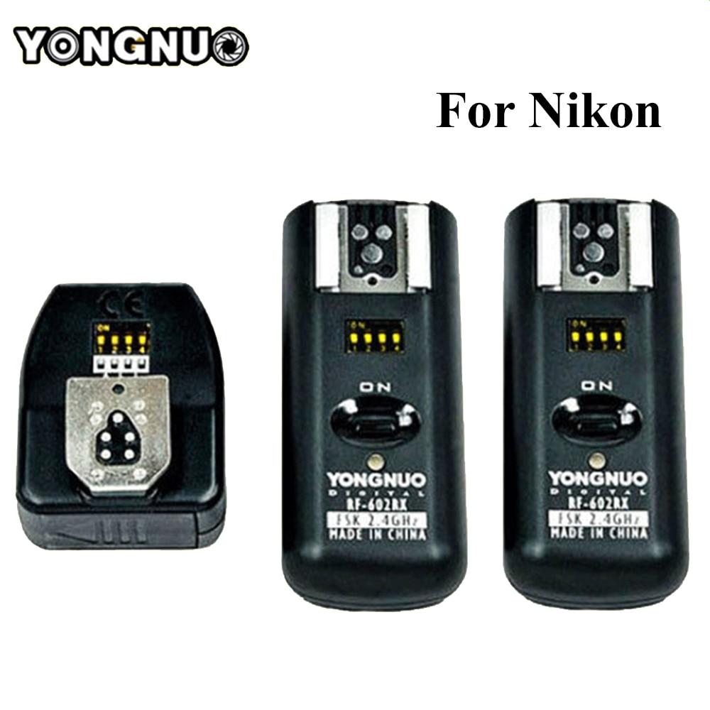 Yongnuo RF-602 RF602 N Wireless Remote Flash Trigger 1 X Transmitter + 2 X Receivers For Nikon D90/D7000/D3100/D5100/D7100/D80 цена и фото