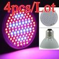 (4 pçs/lote) 106 LEDs de Luz Cresce Claro E27 10 W AC85-265V Lâmpada Para Plantas de Interior Planta Espectro Completo Planta Vegs Luz Atacado