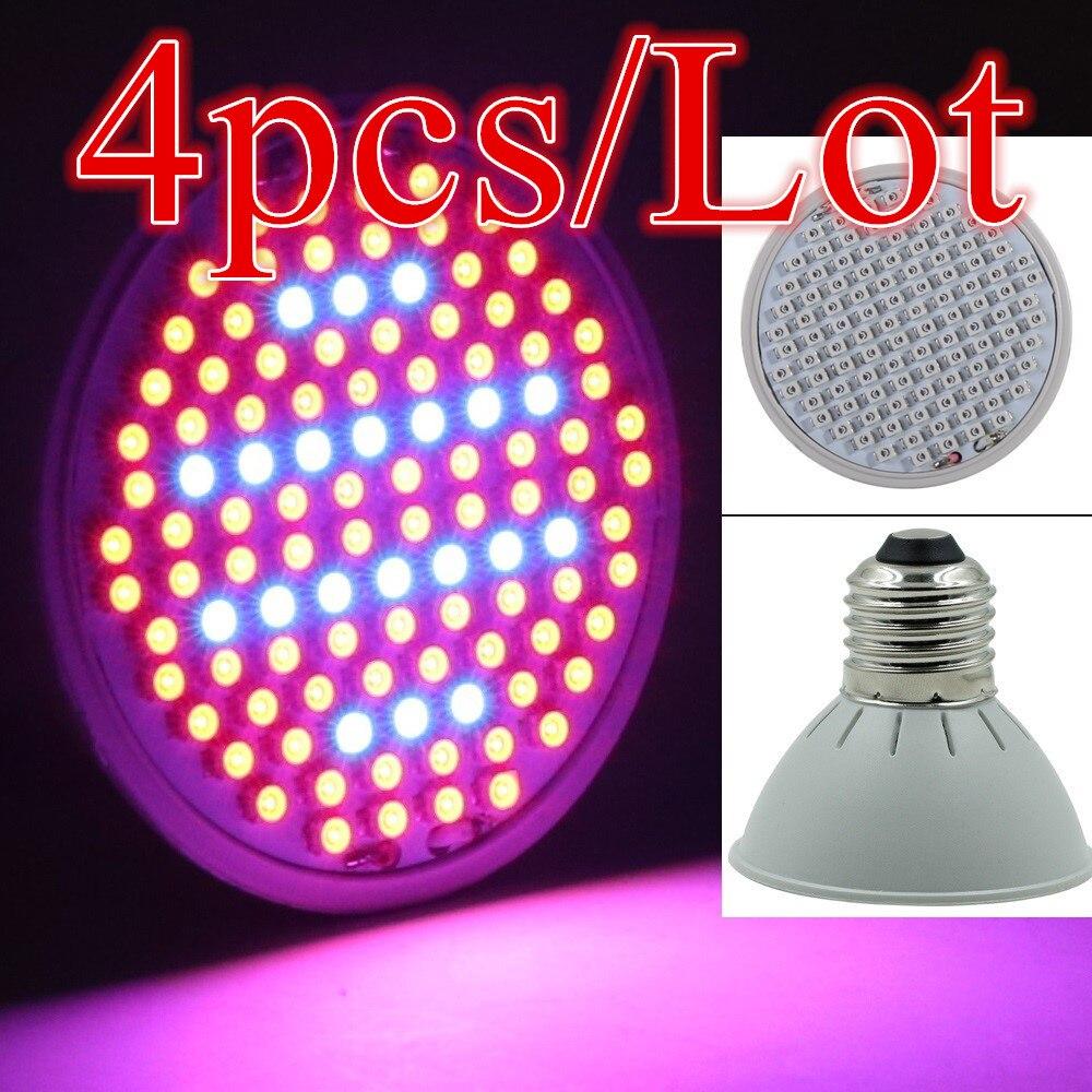(4pcs/Lot) 106 LEDs Grow Light E27 10W AC85-265V Full Spectrum Indoor Plant Lamp For Plants Vegs Plant Light Wholesale
