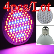 (4pcs/Lot) 106 LEDs Grow Light E27 10W AC85-265V Full Spectrum Indoor Plant Lamp For Plants Vegs Plant Light Wholesale