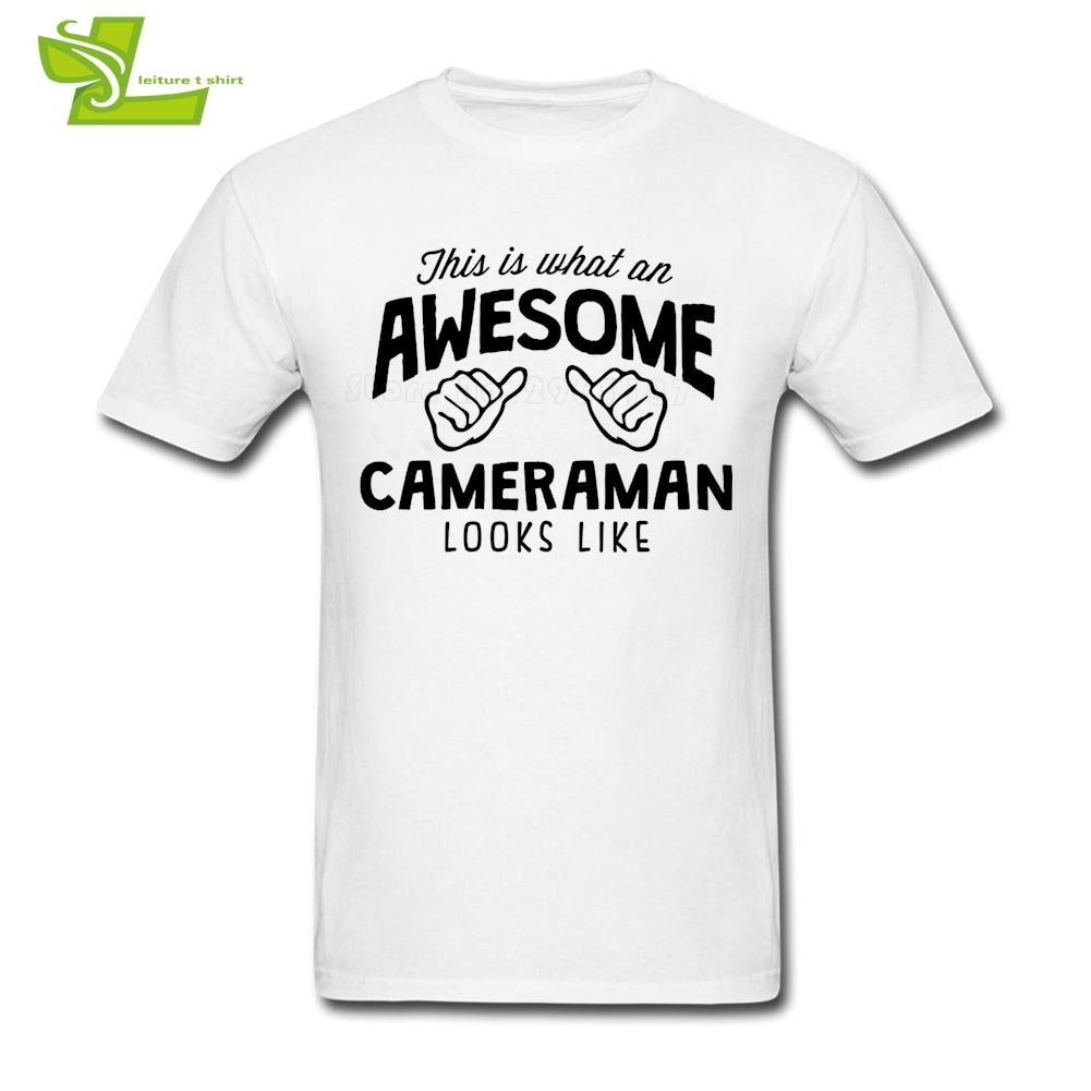 Impressionante Cameraman Sembra T shirt Uomo Manica Corta Tee Maschio Più Nuovo Grande Tops Freddo Personalizzato Allentato Ragazzi Tee Shirts