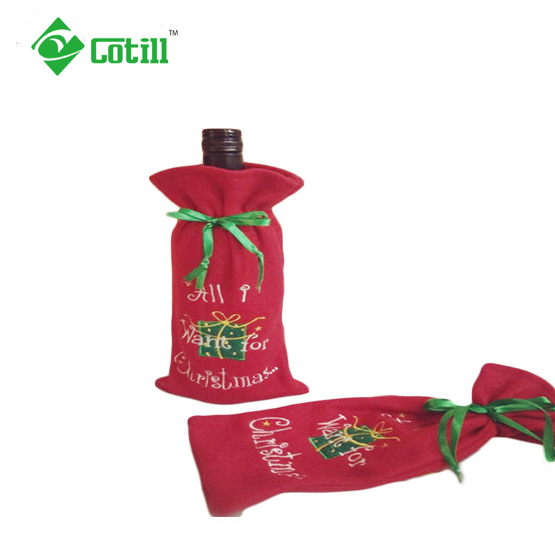 5pc/set Christmas Table Decoration Navidad Red Wine Bottle Cover Bags Santa Claus Christmas Ornament Decorations For Home