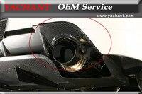 Car Styling Carbon Fiber Exhaust Heatshield Fit For 06 07 Lancer Evolution 9 EVO 9 JDM Rear Bumper VS Style Exhaust Heatshield