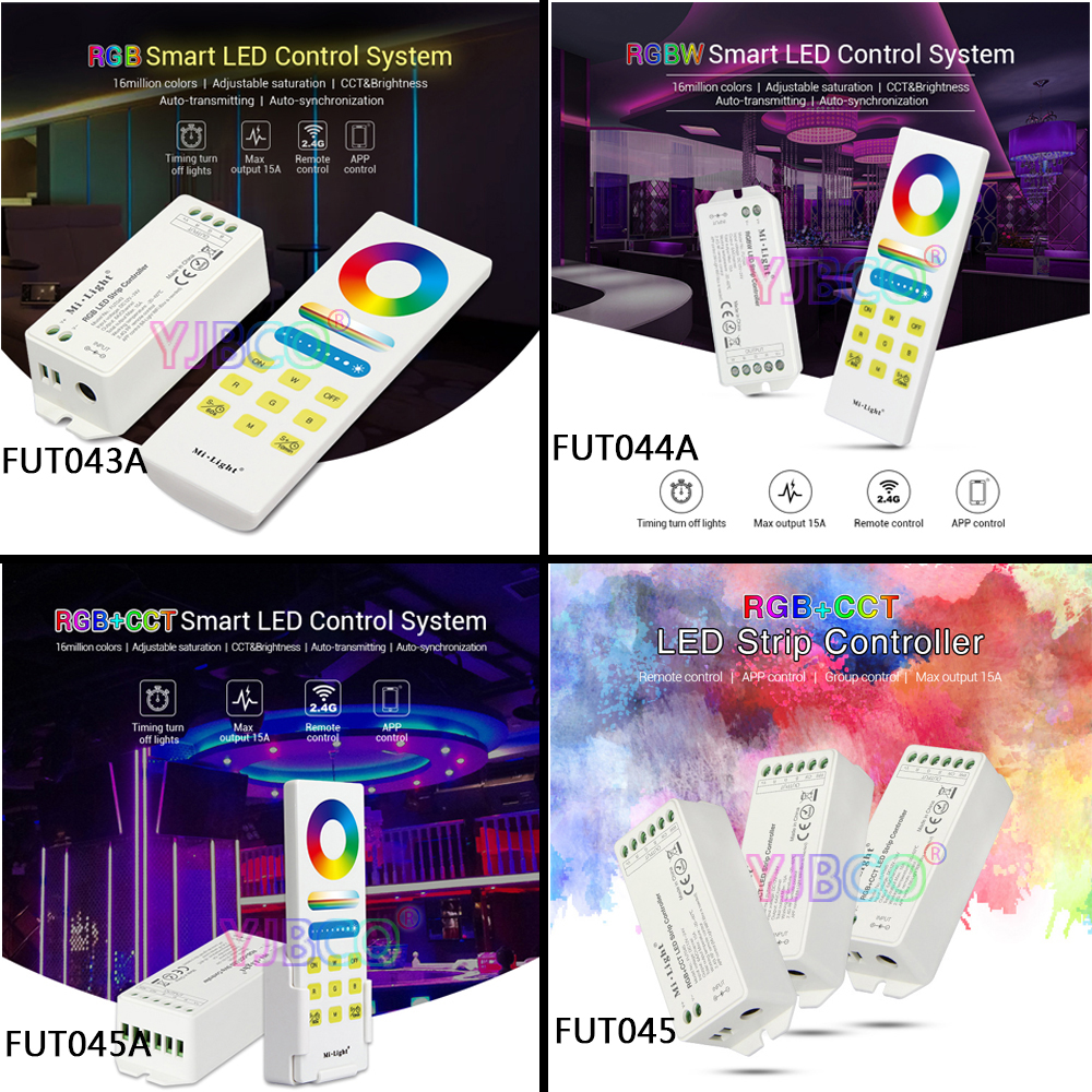 Smart RGB/RGBW/RGB+CCT LED Strip Controller/System DC <font><b>12V</b></font>~24V;2.4G Wireless Panel <font><b>Remote</b></font> Controller;can wifi/APP/voice control image