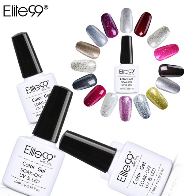 Elite99 Alle 24 stücke UV Gel Nagellack 10 ml Gelpolish Nail art Fashion Birne Glitter Farben Optional Lack LED UV Gel Polnisch