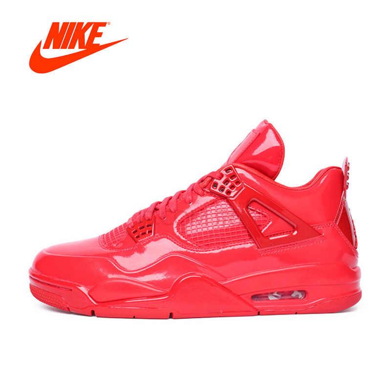 f50e6f03d5cc Оригинальный Новое поступление Официальный Nike AIR JORDAN 4 AJ4 дышащая  Для женщин баскетбольная обувь Спорт кроссовки