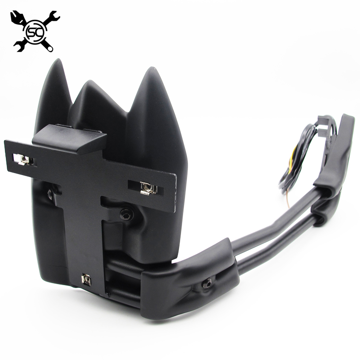 Free Shiping Motocycle License Plate Support Rear Mudguard Fits For Yamaha T-MAX 530 TMAX530 2012 2013 2014 2015 2016 2017