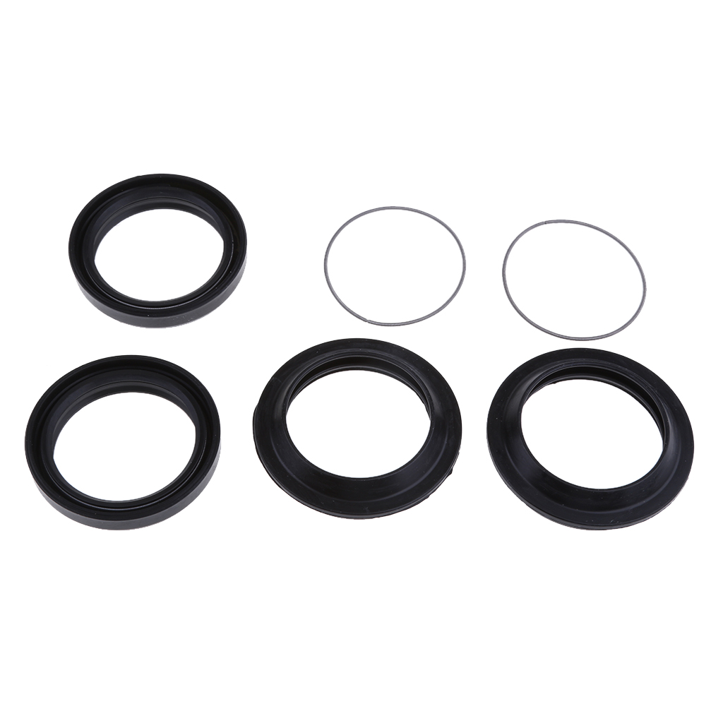 Image 2 - 1 Set 41x53x8mm 2 Pcs Rubber Front Fork Oil Seal & 2 Dust Seal Set Fit Yamaha XJR400 Prevent Oil Spills Motorcycle Accessories-in Covers & Ornamental Mouldings from Automobiles & Motorcycles