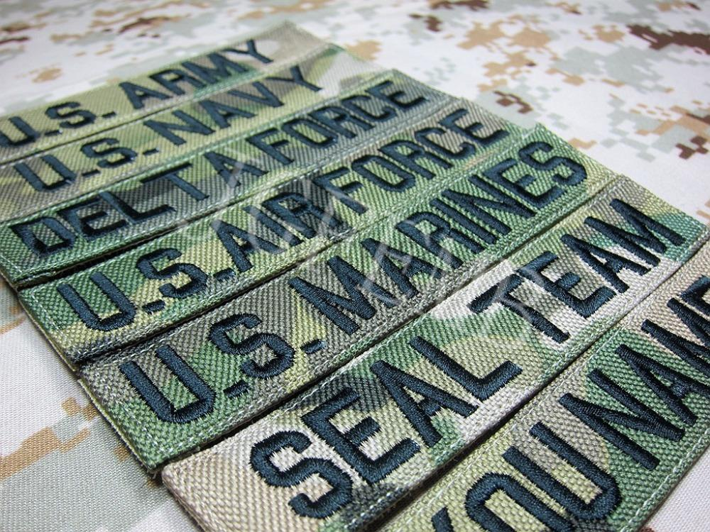 Nylon Multicam Custom Name tapes Chest Tapes Services Tapes morale tactical military Embroidery patch Badges in Patches from Home Garden