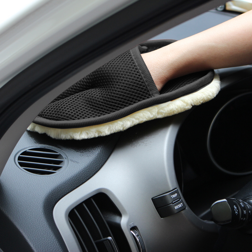 Free Shipping Car Washer Glove from Wool