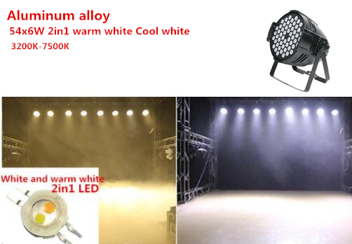 LED Par Light 54X6W RGBW  DMX Channel DMX 512 Windmill Pattern LED Stage Light  DJ Party 54x6w Warm White  DJ Wash Light Stage