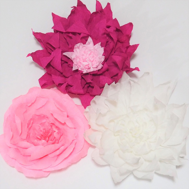 2018 giant crepe paper flowers 3pcs for wedding event backdrop 2018 giant crepe paper flowers 3pcs for wedding event backdrop aritificial flowers baby nursery photography mightylinksfo