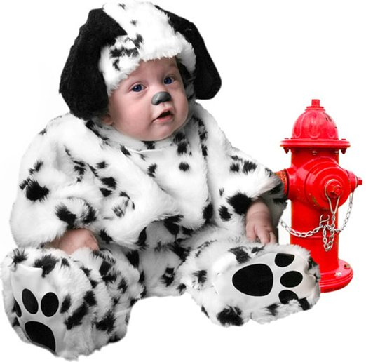 Infant Dalmatian Costume | 2016  Limited Rushed Children Unisex Full Fleece Onesie Kigurumi Plush Infant Baby Dalmatian Dog Puppy Costume (18 Months)