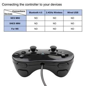 Image 4 - עבור Wii מיני קלאסי בקר פרו שחור לבן Gamepad עבור Wii מרחוק אביזרי וידאו משחקי ג ויסטיק