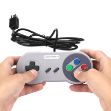 Wired Game Controller Gamepad Joypad Button Cable For Super NES Game Console