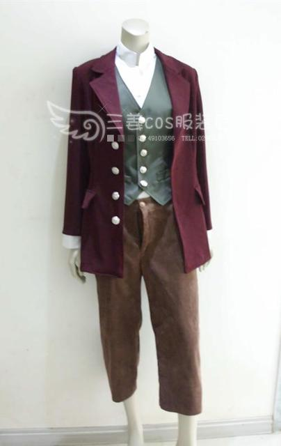 The Hobbit Bilbo Baggins Outfit Suit Cosplay Costume Full Set Film