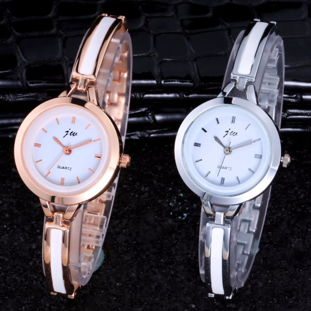 Luxury Brand JW Quartz Watch Clock Women 2017 Rose Gold Stainless steel Bracelet watches Ladies Fashion Casual Dress Wristwatch 2016 new fashion women watch women wrist watch quartz watches analog stainless steel bracelet luxury gifts for ladies rose gold