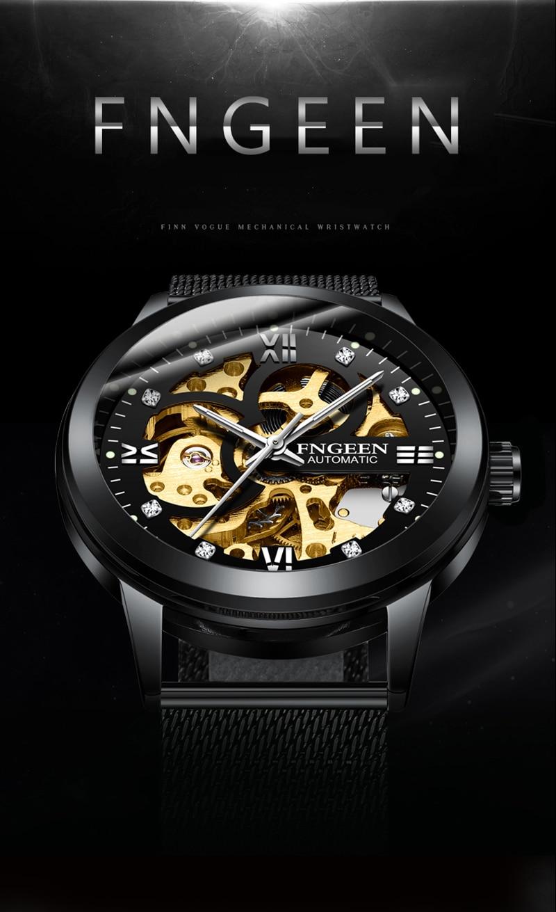 HTB14N4BKuuSBuNjSsziq6zq8pXaA Skeleton Watch 2019 New FNGEEN Sport Mechanical Watch Luxury Watch Mens Watches Top Brand Montre Homme Clock Men Automatic Watch