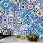 20PCs/set DIY Mosaic Wall Stickers Ceiling Kitchen Bathroom Toilet Waterproof PVC Square Wallpaper Wall Stickers New Arrival
