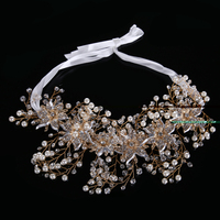 The Hot Selling Pearl Bridal Flower Headband Fashion Women Hair Band Headdress Wedding Hair Accessories Bridal
