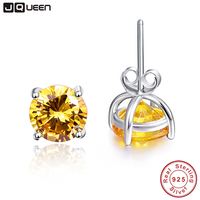 Hot Fashion Fine Jewelry Women Earrings Set 6 Pairs Small Round Multi Color Pure 925 Sterling
