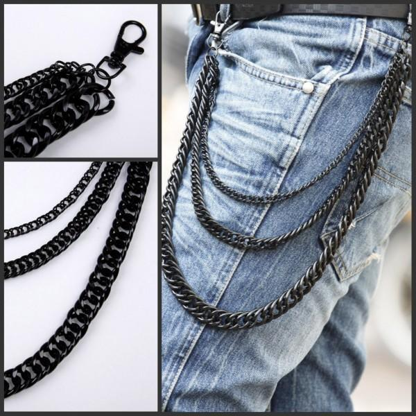 Fashion Man Personalized Belly Chain Male Metal Popular Metal Pants Chain Street Star Trousers Waist Chain Boy Students Hiphop