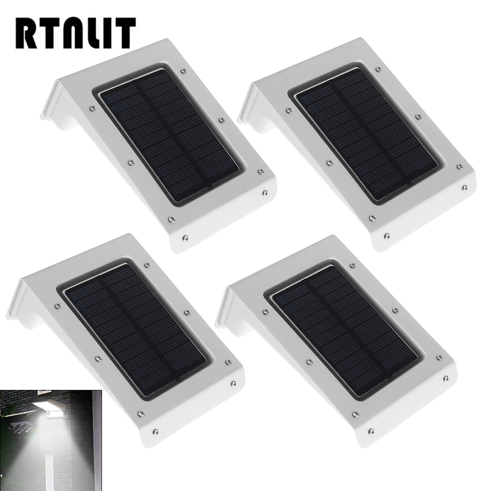 4pcs Solar Powered 20 LED Motion Sensor Wall Light Outdoor Waterproof Multifunctional Security Lamp for Home Garden Yard Street ds 360 solar sensor led light black