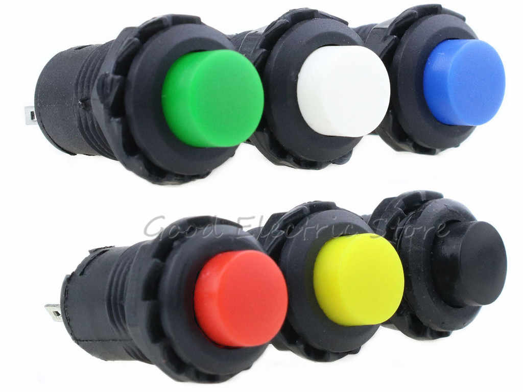 10 Pcs DS228 on/Off a Scatto O Momentaneo Push Button Switch Blocco Auto Cruscotto Del Precipitare Della Barca 12V DS428