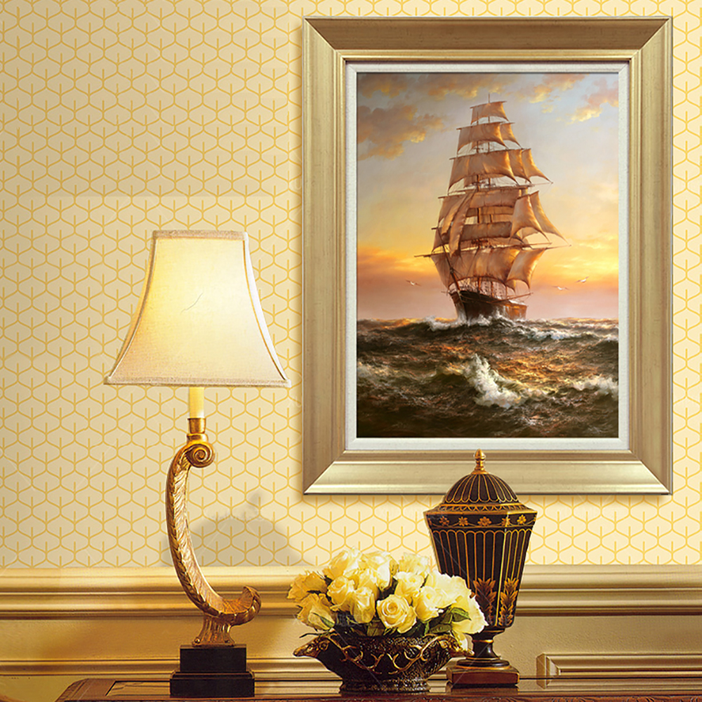 Oil Painting Canvas Print Seascape Warship Sailing Ship Modern Picture Home Decoration Gift for Living Room Wall