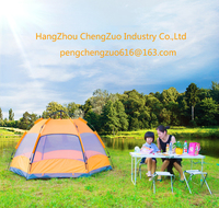 Hot Sale Large Room Double Layer 4 Person Waterproof Large Family Tent, TXZ 0077B,4 Person Six Corners Tent