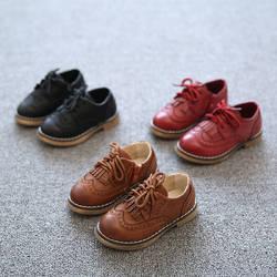 2018 г., новинка осеннего сезона для мальчиков кожаные ботинки девушки Античная кисточкой обувь для детей Открытый Бесплатная доставка