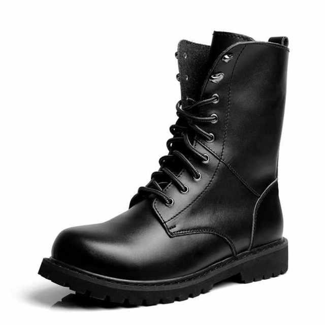 8brand New Us55 Lace Black Men Motorcycle Cowboys Toe Boots Pointed Design 에서brand Fashion Men's Winter Leather Up eEWDbHI29Y