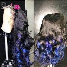 Объемная волна huamn парик волос 13X6 150