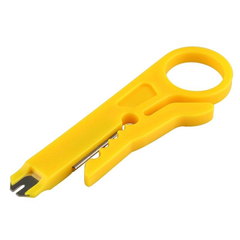 Werkzeuge Zangen WunderschöNen 9 Cm Mini Stripper Netzwerkkabel Zange Gelb Utp Stp Kabelschneider Telefon Abisolierzange 5x Rj45