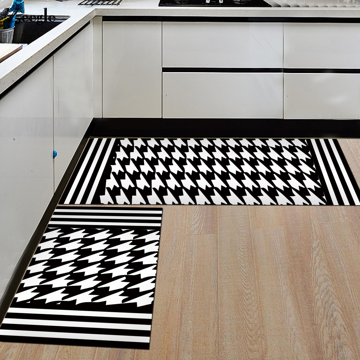 White Kitchen Floor Mats: Aliexpress.com : Buy Zeegle Floor Mat Black And White Door