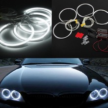 1set LED Angel Eye For BMW E46 4pcs*131mm Car CCFL LED Angel Eyes Halo Rings for BMW E36 E38 E39 E46 White цена
