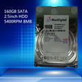 Nova marca de 2.5 polegadas HDD 160 GB 5400 Rpm 8 M Buff SATA Internal Hard Disk Drive Para O Portátil Notebook MaxDigital/MD160GB SATA de 2.5 polegadas