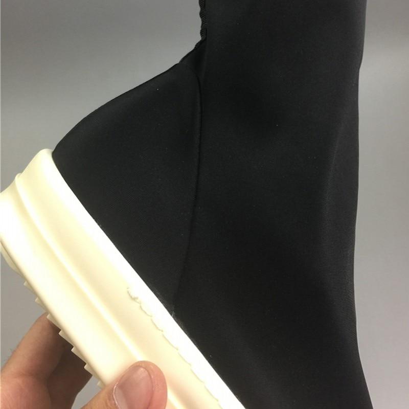2019 zapatos de calcetín para hombre Botas de tobillo zapatillas de lujo para amantes de la pasarela botas elásticas casuales zapatos planos negros zapatillas de deporte de talla grande - 5