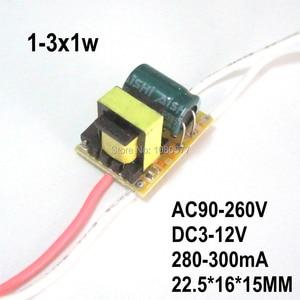 Image 2 - Pcs LED Driver Atual Constante fonte de Alimentação Da Lâmpada 280mA 2 300mA 1W 3W 5W 7W 9W 10W 20W 30W 36W 50W Isolamento Transformador de Iluminação