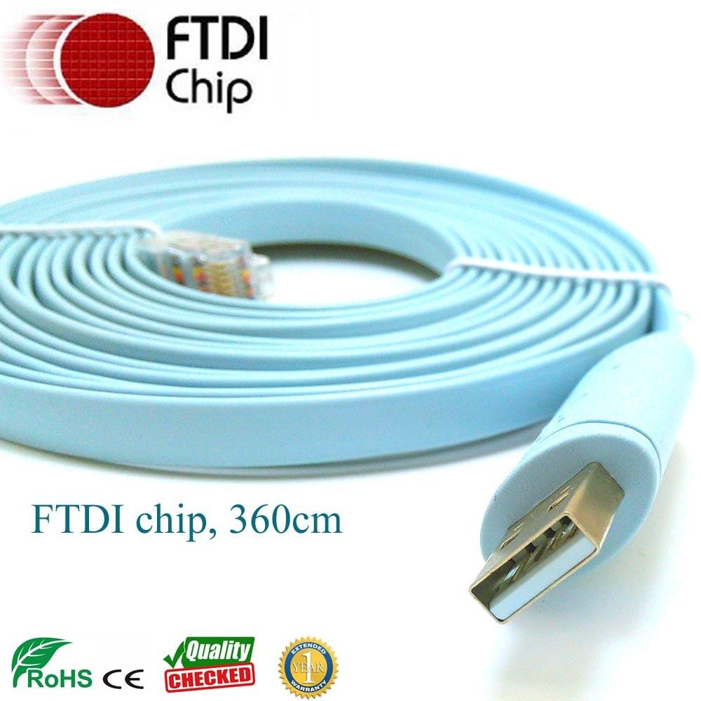 3-6mtr-FTDI-USB-RS232 a RJ45-consola-cable versión larga para - Cables de computadora y conectores - foto 1