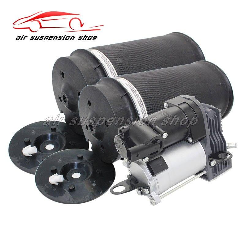 1 conjunto Saco De Mola de Ar Traseira Suspensão a Ar com Compressor de Ar Bomba para Mercedes-Benz W251 R320 R350 R500 a2513202704 2513200325