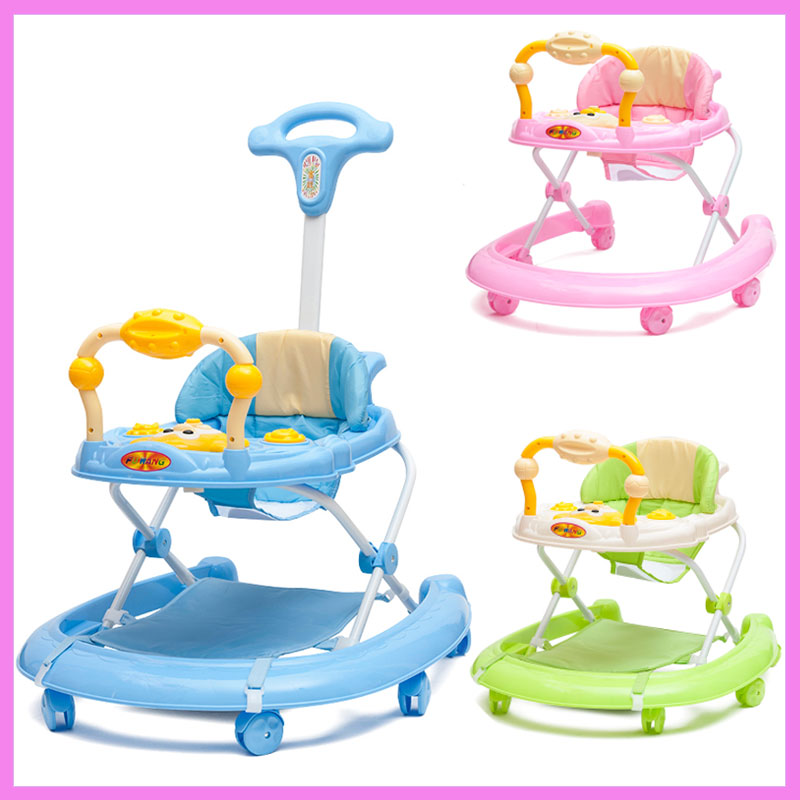 Infant Baby Walkers 5-level Adjustable Height Toddler Baby Activity Walkers with Wheels Activity Walker Car Walker Assistant musical and flashing light baby walker cheap kids walker hot sale walkers