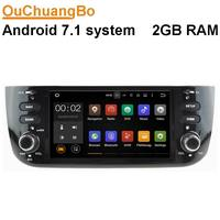 Ouchuangbo car radio media player fit for Fiat Linea New with android 7.1 system gps 1080P wifi Bluetooth mirror link 2G RAM