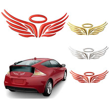 3D Angel Fairy Wings Sticker Car Auto Truck Logo Emblem Badge Decal Bumper Body Car Styling Decoration Exterior Accessories